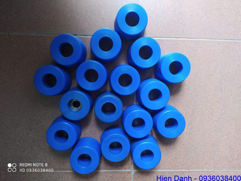 Bánh xe nhựa MC Nylon xanh