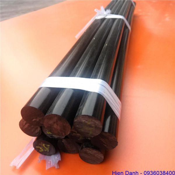 Nhựa pom cây tròn D35 màu đen