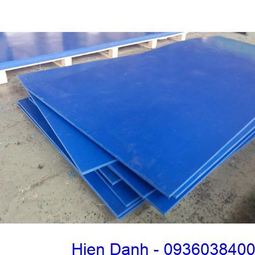 Tam nhua UHMW-PE day 10mm mau xanh